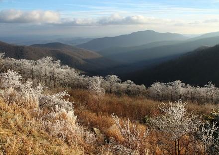 Pinnacles Overlook in Winter