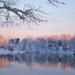 Snowy Morning at Smith Mountain Lake by Patty Love (Honorable Mention)