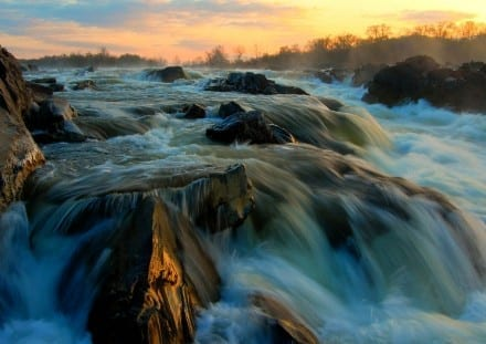 BEST - Best in Show  Photo Name: Great Falls Sunrise Photographer: Theresa Rasmussen of Fredericksburg, Virginia Location: Great Falls in Fairfax County
