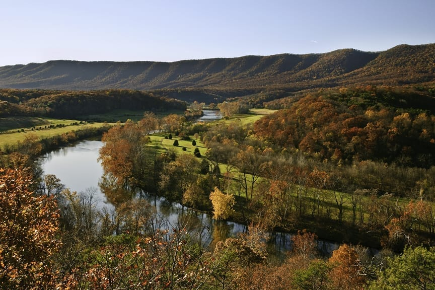 Shenandoah Autumn by Chester Lewandowski (Location: Warren County) Rivers & Waterways Winner