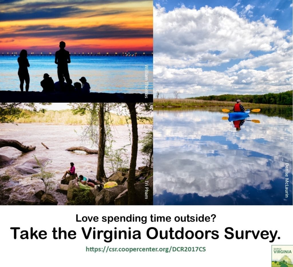 Love going outside? Take the Virginia Outdoors Survey!