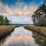 Evening Twilight on Jamestown Island by Paul Diming