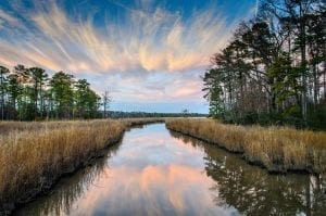 Evening Twilight on Jamestown Island by Paul Diming