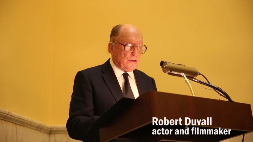 Video Footage of Robert Duvall at The Richmonds Medal
