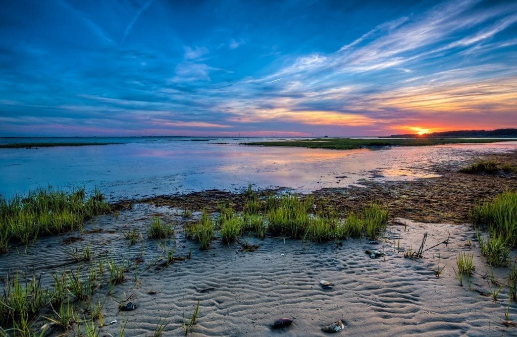 Chincoteague Sunset at Low Tide (Chincoteague on the Eastern Shore) Photographed by Edward Episcopo of Fredericksburg
