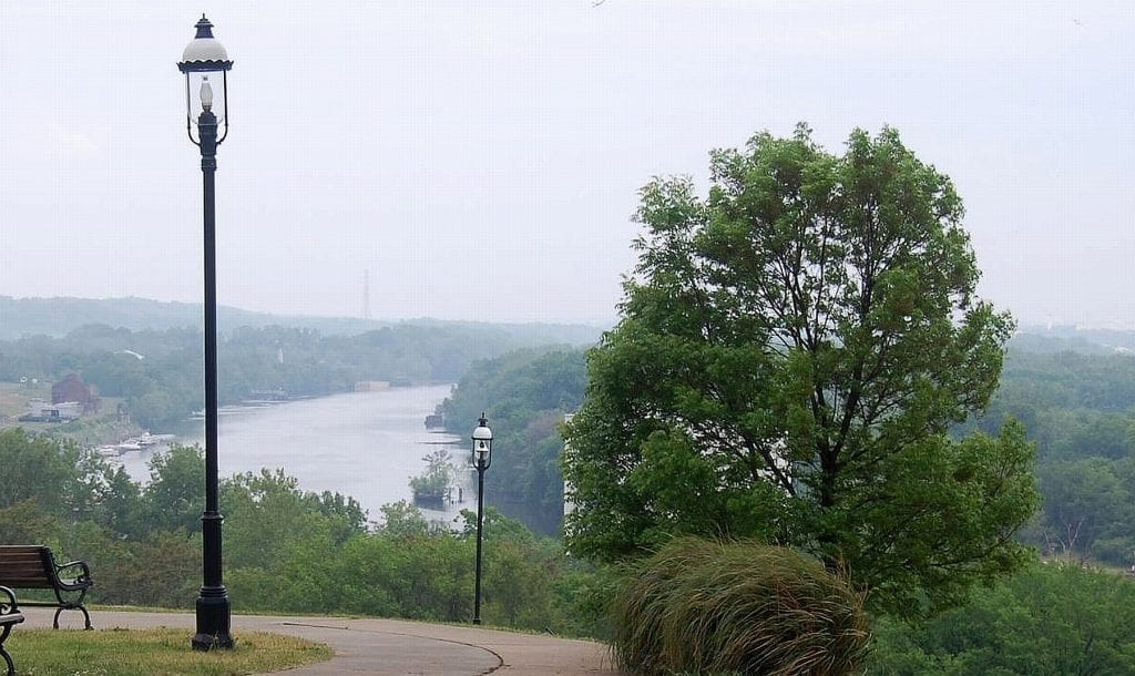 """The View That Named Richmond"" in Libby Hill Park"