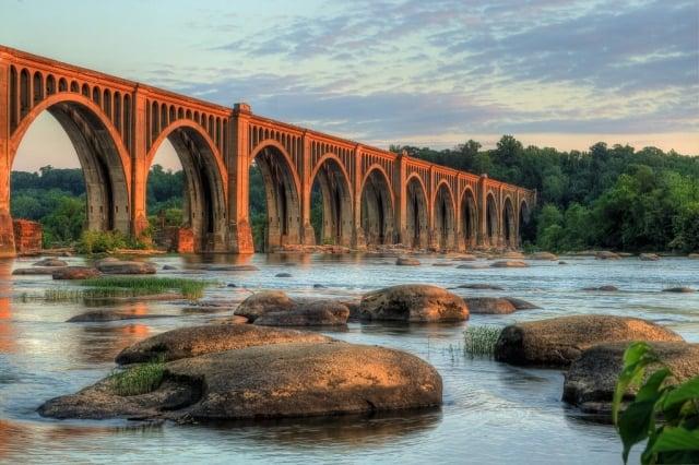Best in Show Winner: Railroad Bridge at Sunset by Bill Piper (Richmond)