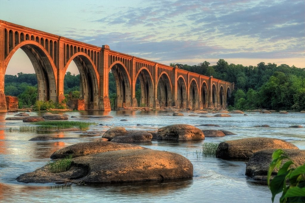 2010 Best in Show Winner: Railroad Bridge at Sunset by Bill Piper (Richmond)