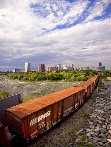 Richmond's James River View by Adam Goldsmith