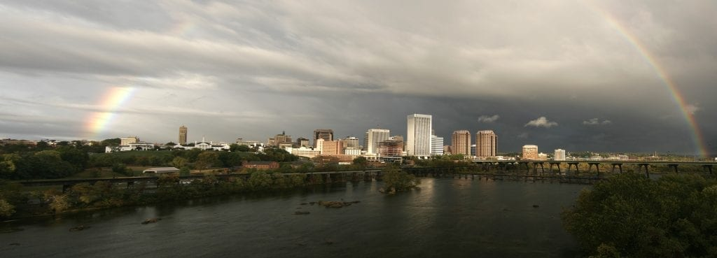 Rainbow over River City by Jeffrey Ruisi