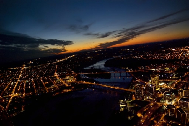 Cities and Towns Winner: Sunset over Richmond by Rick Kidd (Richmond)