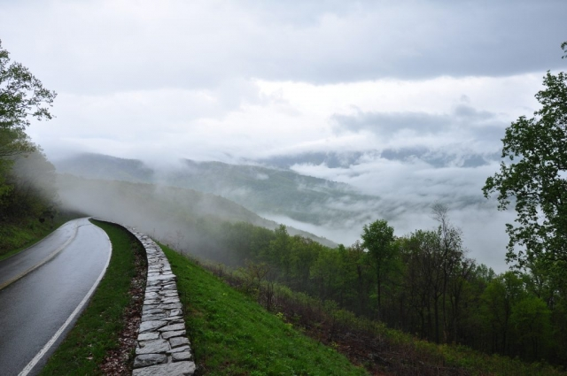 Shenandoah National Park Winner: Fog on Skyline Drive by Richard Koth (Skyline Drive)