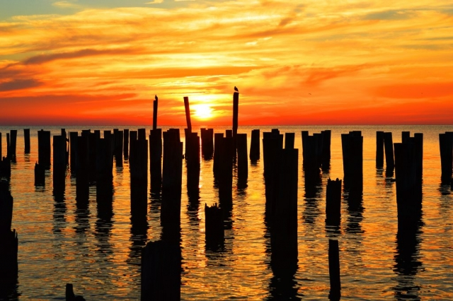 Orange Sunset by Nancy Comley (Cape Charles)