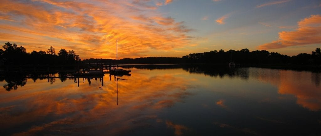 Sunrise on Heywood's Creek by Lewis Burruss (Gloucester)