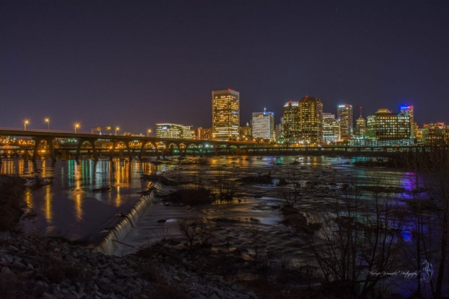 Downtown Richmond at Night by Florence Womacks (Richmond)