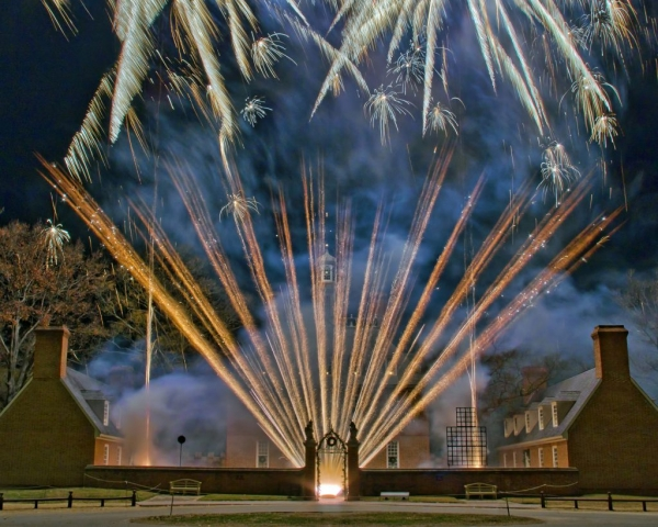 Fireworks at the Palace by Chuck Durfor (Colonial Williamsburg)