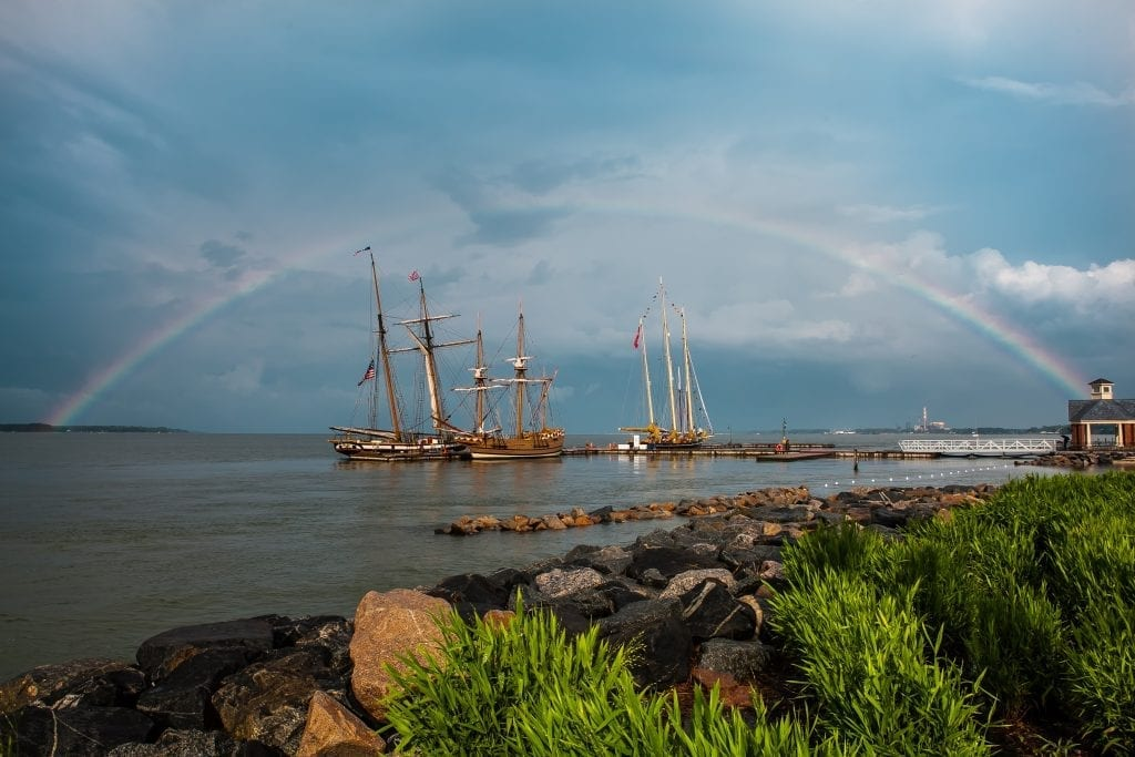Rainbow over the York by Robert Hunter (Yorktown Waterfront)