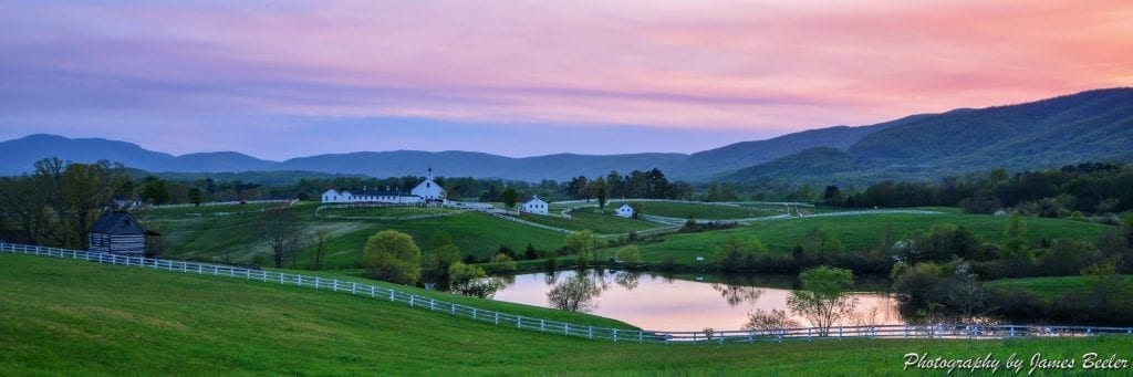 A Perfect Dusk Over Mirador by James Beeler (Mirador Farm in Albemarle County)