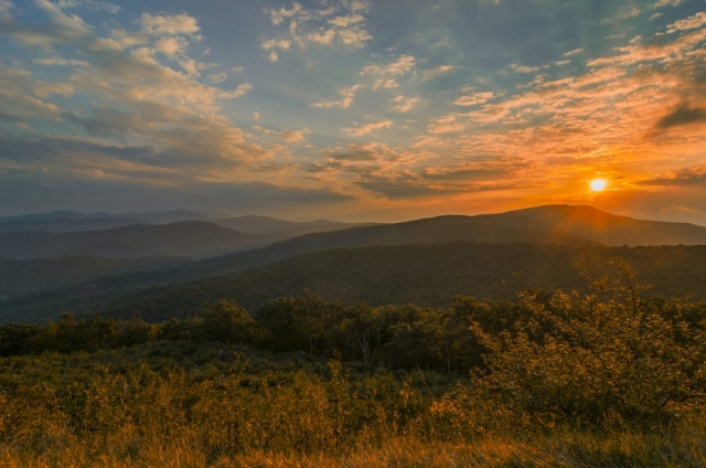 Warm Sunset At Shenandoah National Park by William I. Spinrad Jr. (Rappahannock County)