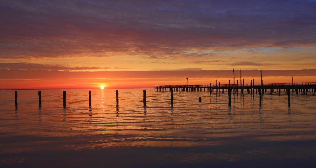 Dawn at Colonial Beach by Mary Lynne Wolfe (Colonial Beach)