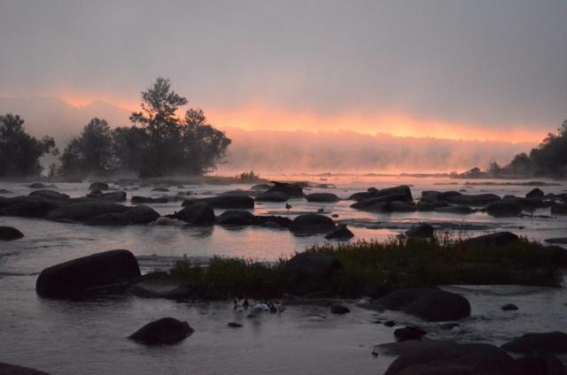 Fire in the Sky by Scott Adams (James River in Richmond)