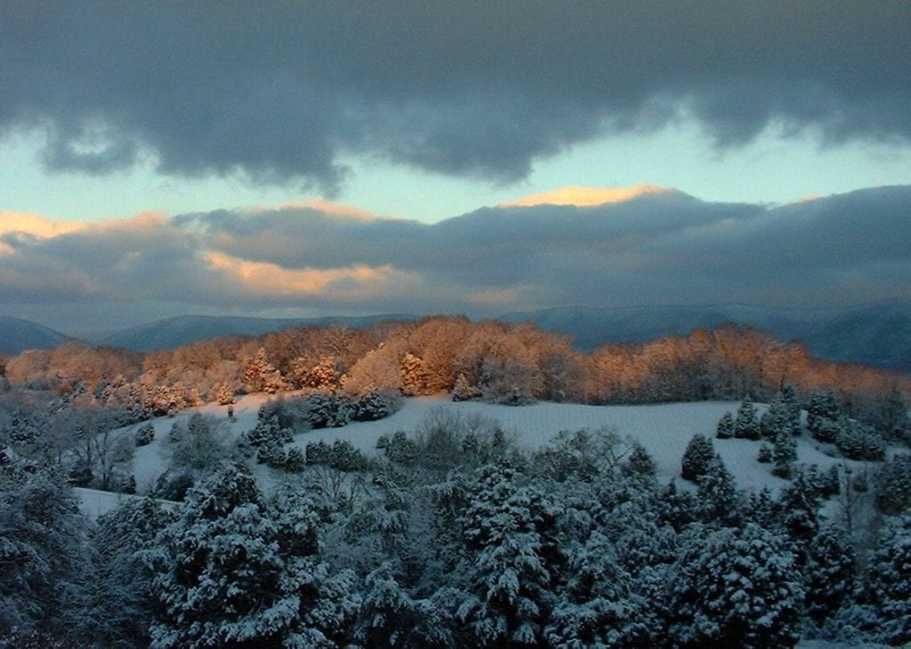 Sunrise on Snowy Ridge by Ann Beth Wiegand (Botetourt County)