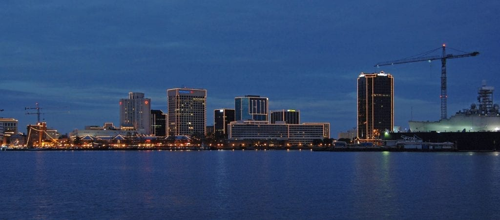 Norfolk Skyline at Dusk by John Shire