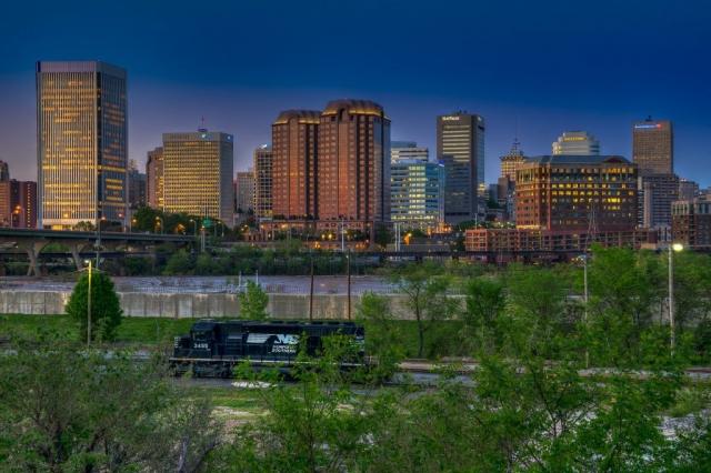 Cities & Towns Winner: Sunset on Richmond by Harry Meares, Jr. (Richmond)