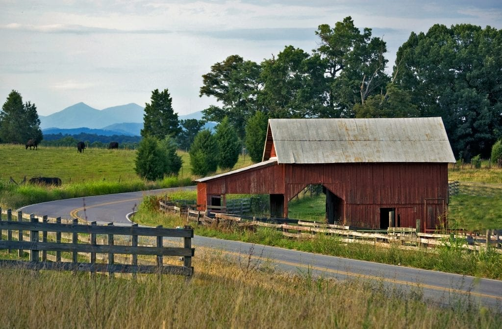 Barn and Peaks of Otter by Patty Love (Franklin County)