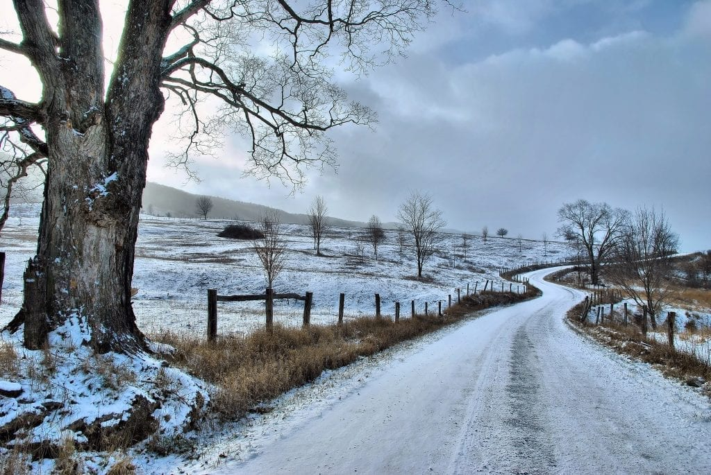Highways & Byways Winner: Cold Winter Road by Terri Puffenbarger (Highland County)