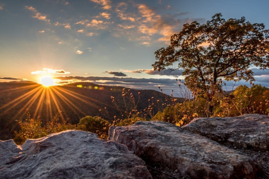 Mountains & Valleys Winner: Sunset on Skyline Drive by Christine Hoggan (Rockingham County)
