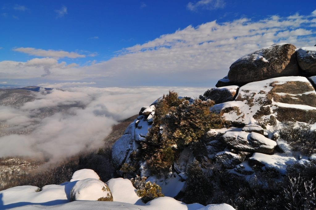Mountains & Valleys Winner: Clearing Storm on Old Rag by Matthew Culbertson (Old Rag Mountain)
