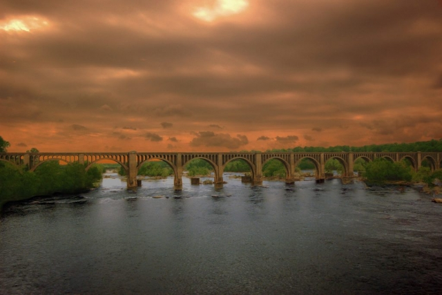 Rivers & Waterways Winner: Atlantic Coast Train Bridge by Ken Hopson (Richmond)