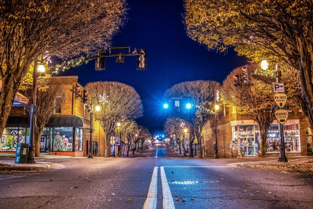"Cities & Towns Category Winner: ""Midnight Main Street"" (Downtown Galax) by Larry Thompson of Galax"