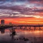 """Cities & Towns Category Honorable Mention: """"Richmond Sunrise Along the James River"""" (looking East from the Lee Bridge in Richmond) by Robert Coles of Richmond"""