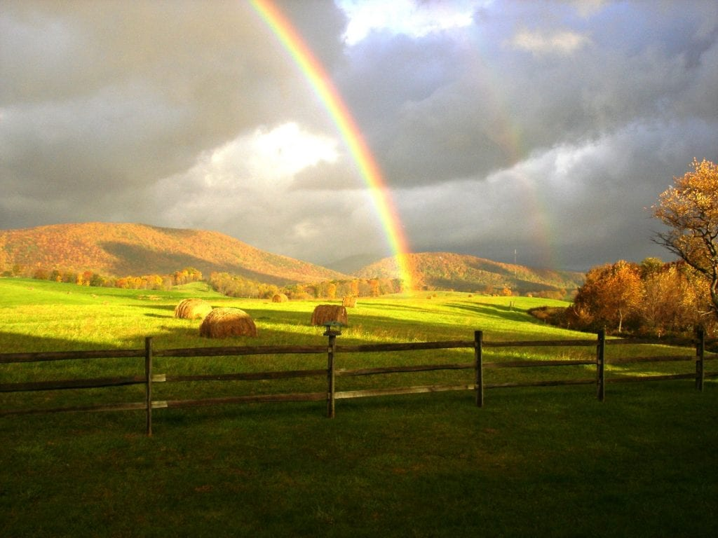"""Farms & Open Space Winner: """"Who Needs a Pot of Gold?"""" (Swoope in Augusta County) by Charlie Drumheller of Swoope"""