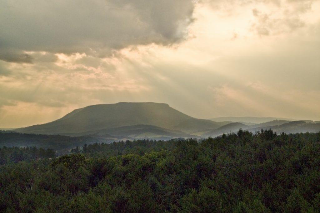 "Mountains & Valleys Winner: ""Mountains in Sun"" (Lexington in Rockbridge County) by Kay Moneymaker of Williamsburg"