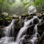 "Rivers & Waterways Category Honorable Mention: ""Dark Hollow Falls"" (Skyline Drive in Shenandoah National Park in Stanley) by C. Renee Martin of Fredericksburg"