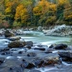 """Rivers & Waterways Category Honorable Mention: """"Rushing Maury"""" (Maury River in Goshen Pass) by Ashley Hall of Heathsville"""