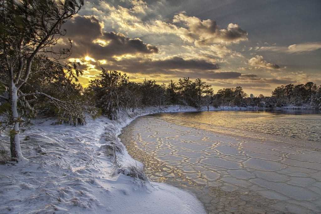 Winter Wonderland In Virginia Beach
