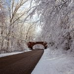 The Colonial Parkway in Winter